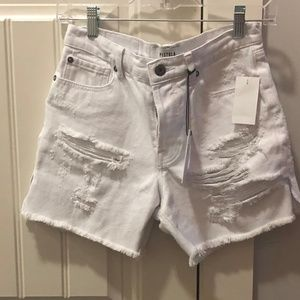 PISTOLA DEVIN HIGH RISE MOM CUT OFF SHORTS Size 25